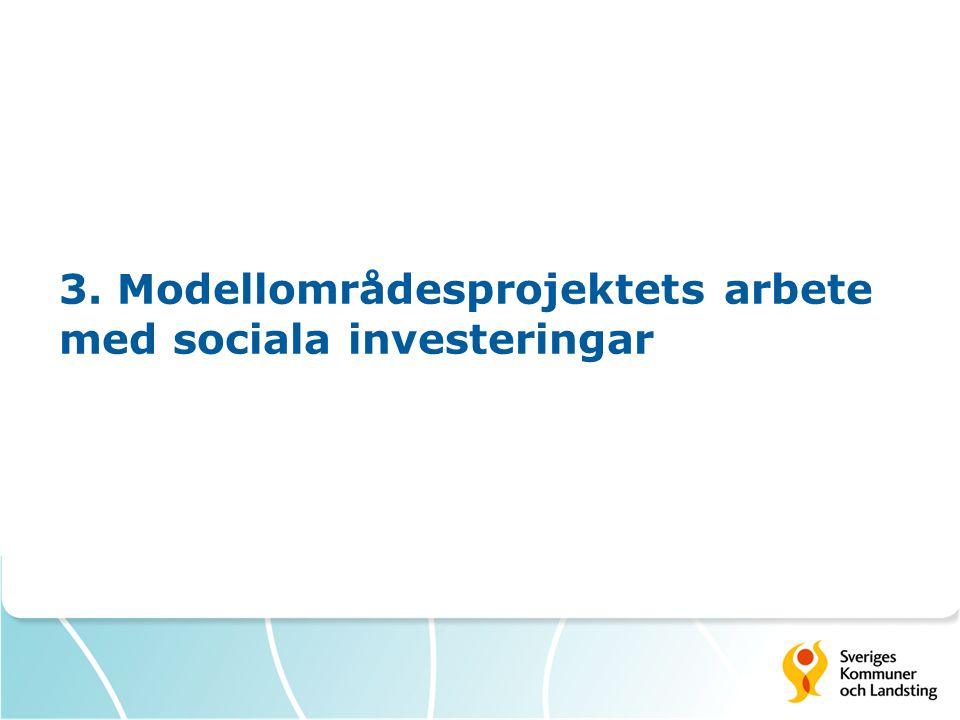 3. Modellområdesprojektets arbete med sociala investeringar