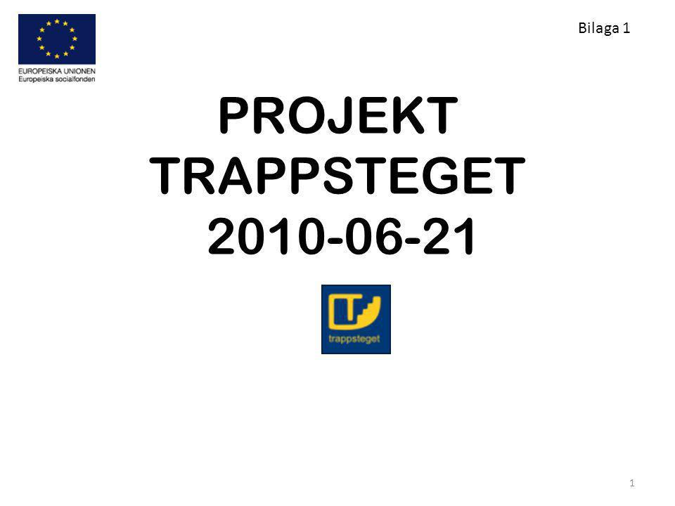 PROJEKT TRAPPSTEGET 2010-06-21 1 Bilaga 1