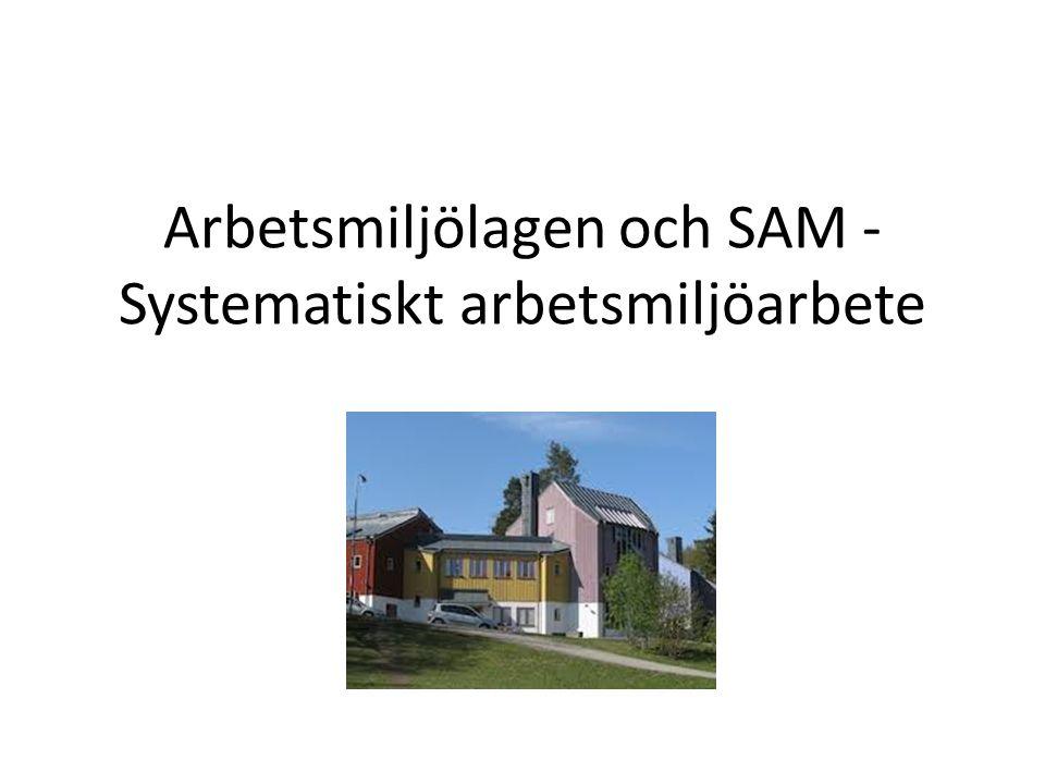 Arbetsmiljölagen och SAM - Systematiskt arbetsmiljöarbete