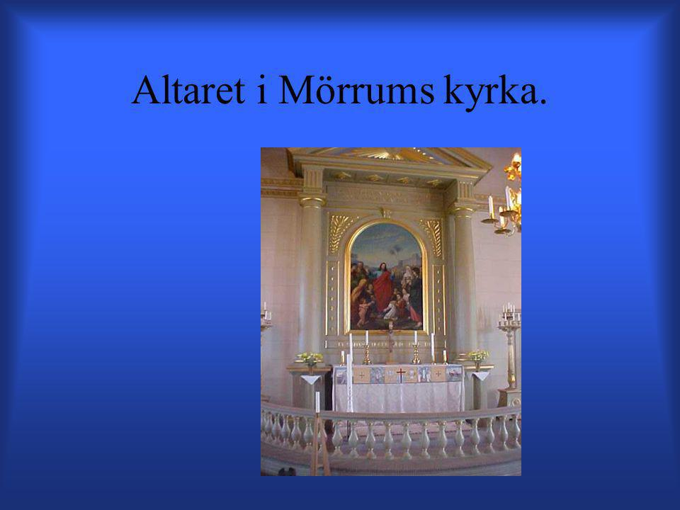 Altaret i Mörrums kyrka.