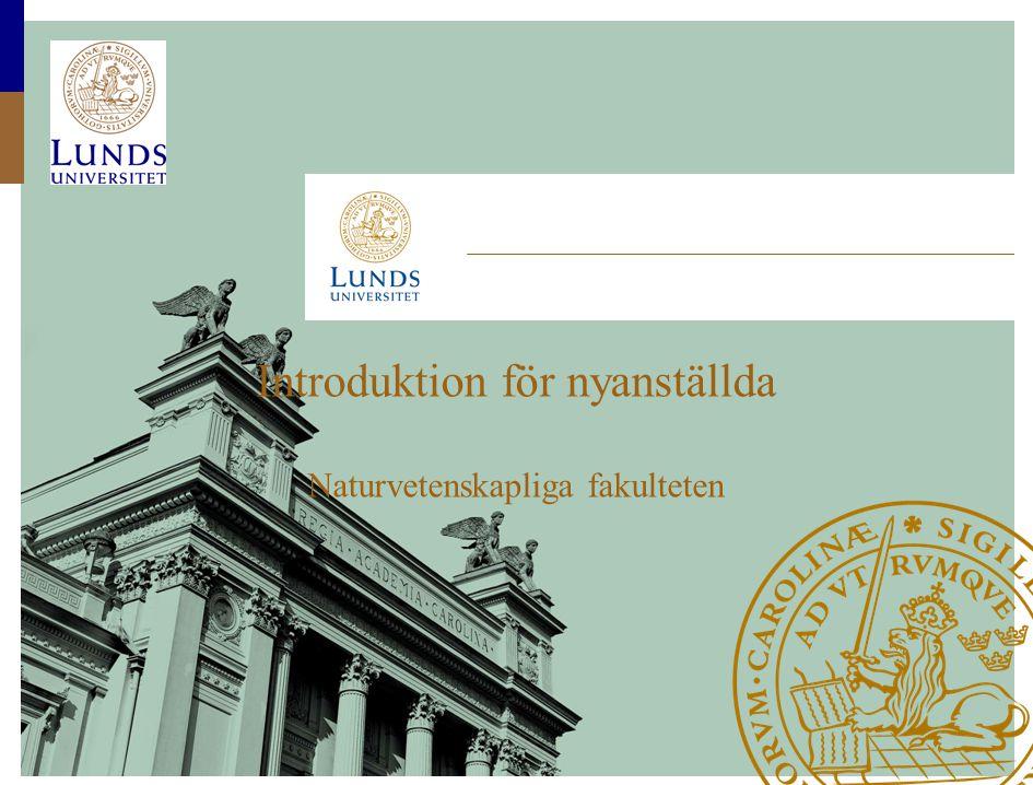 Introduktion för nyanställda Naturvetenskapliga fakulteten