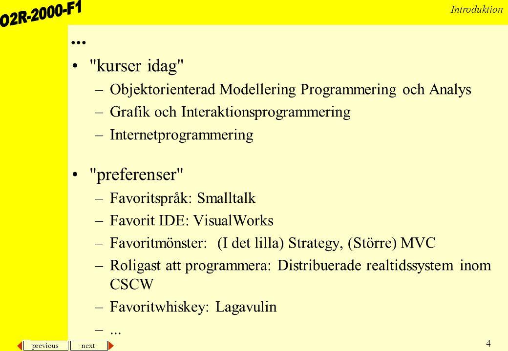 previous next 25 Introduktion Objektorienterade realtidsmodeller •Från krav till analys till design till implementation •Då parallellitet ingår i realtidssystem så bör det ingå i modellen •Objektorienterade modeller baseras på objekt –Hur kan parallellitet och objektorientering kombineras.