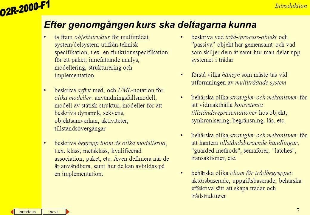 previous next 28 Introduktion Olika typer av fel •Hur bör ett RT-system vara.