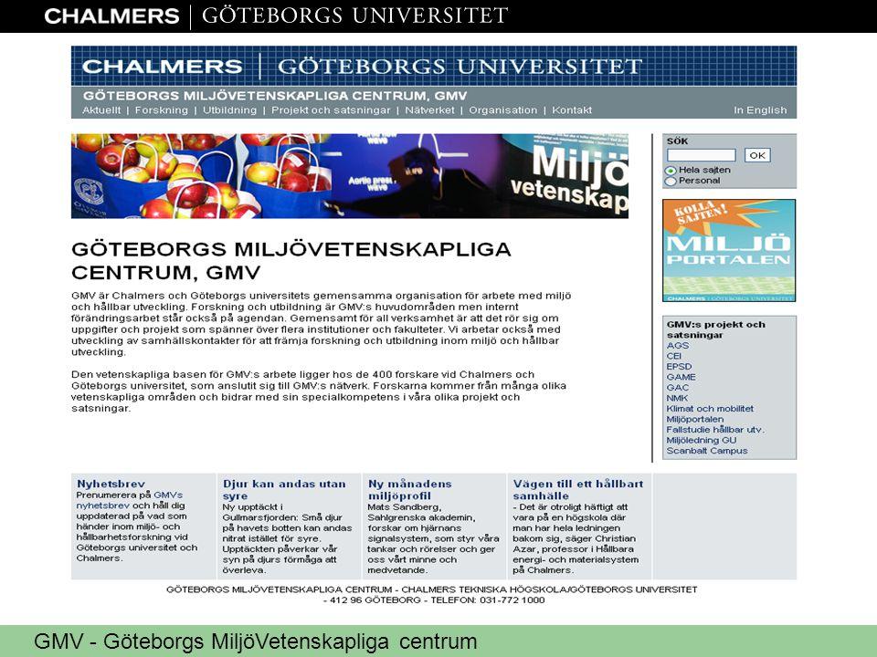 GMV - Göteborgs MiljöVetenskapliga centrum