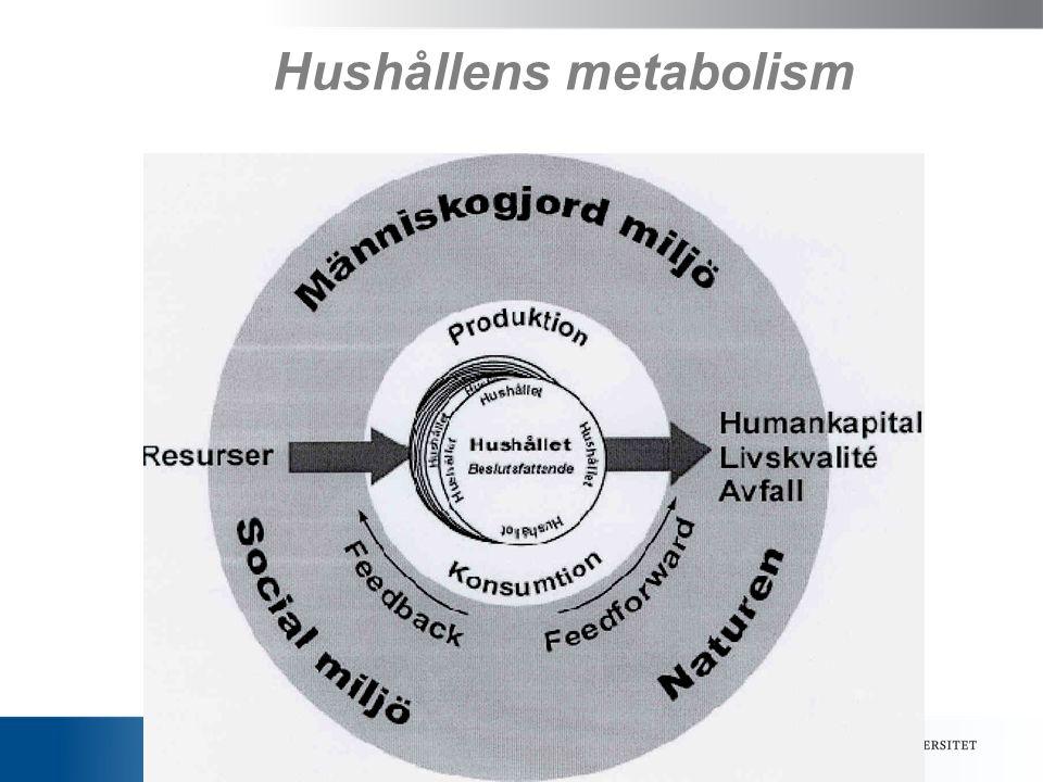 Hushållens metabolism