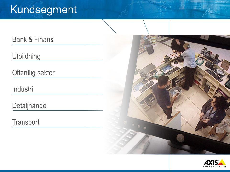 Kundsegment Bank & Finans Utbildning Offentlig sektor Industri Detaljhandel Transport