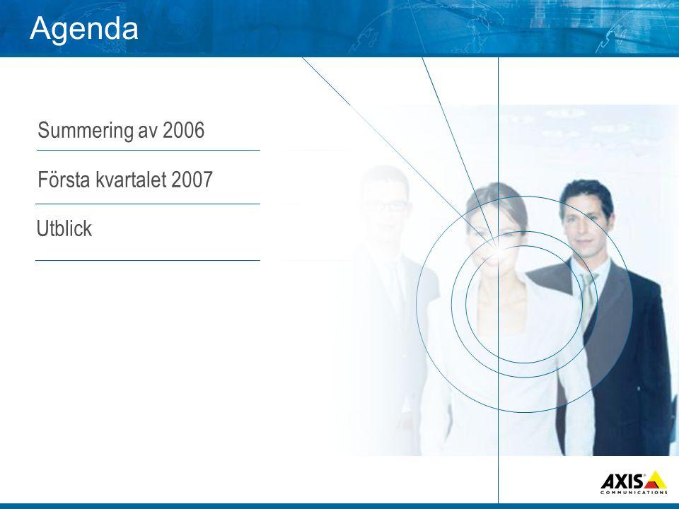 Agenda • Summering av 2006 • Första kvartalet 2007 Utblick