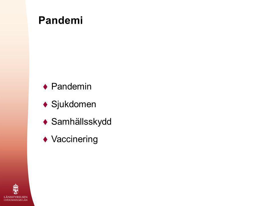 Pandemi  Pandemin  Sjukdomen  Samhällsskydd  Vaccinering