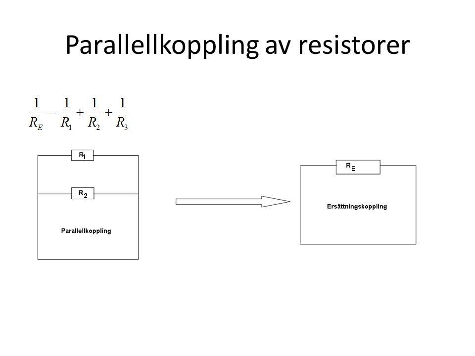 Parallellkoppling av resistorer