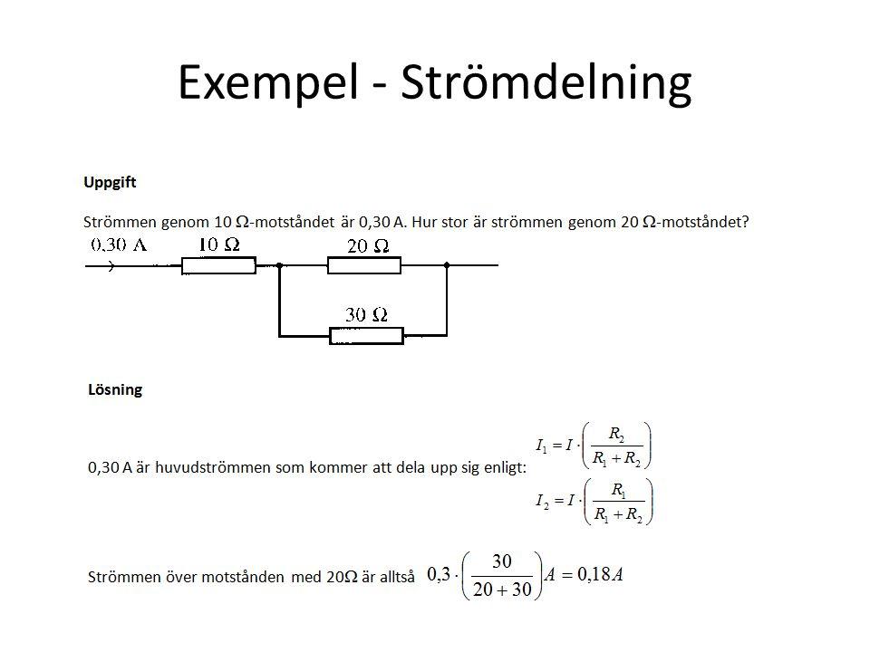 Exempel - Strömdelning