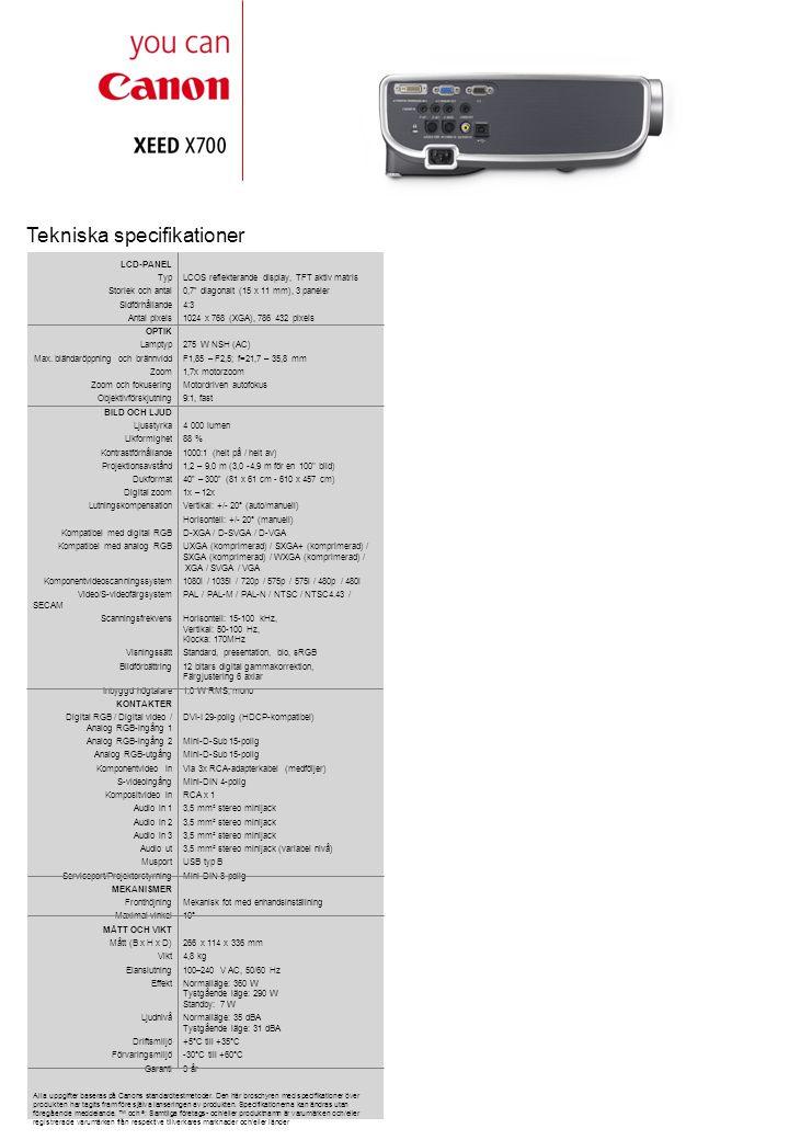 """Tekniska specifikationer LCD-PANEL TypLCOS reflekterande display, TFT aktiv matris Storlek och antal0,7"""" diagonalt (15 x 11 mm), 3 paneler Sidförhålla"""