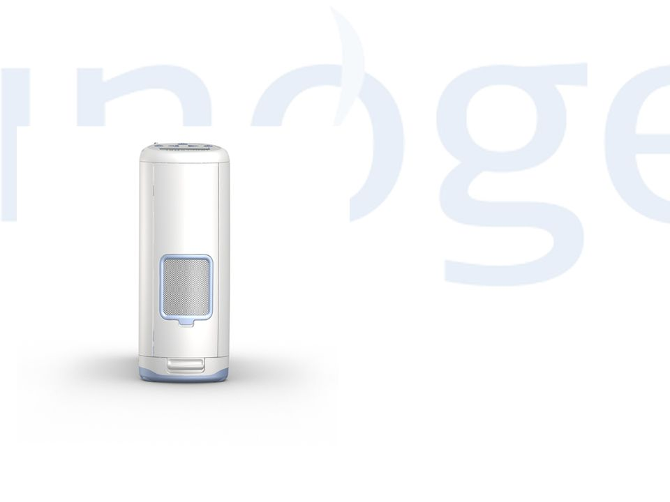 Inogen One - syrgaskoncentratorn som har definierat en ny kategori •System för hemmabaserad syrgasbehandling (LTOT) •«A single-source oxygen system» •Designats för användning 24 timmar om dygnet, 7 dagar i veckan.