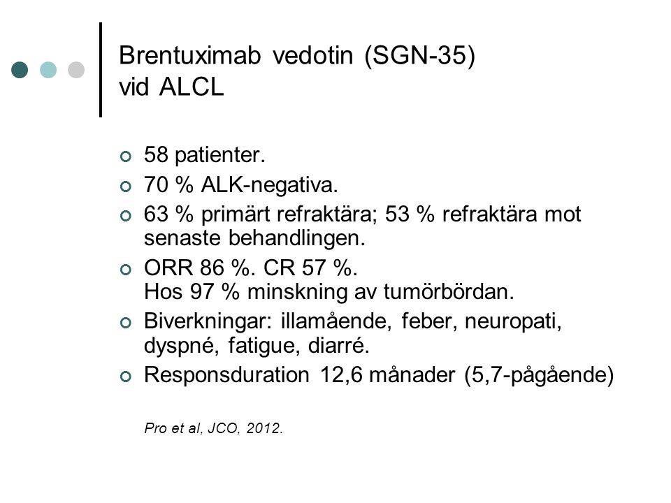 Brentuximab vedotin (SGN-35) vid ALCL 58 patienter.