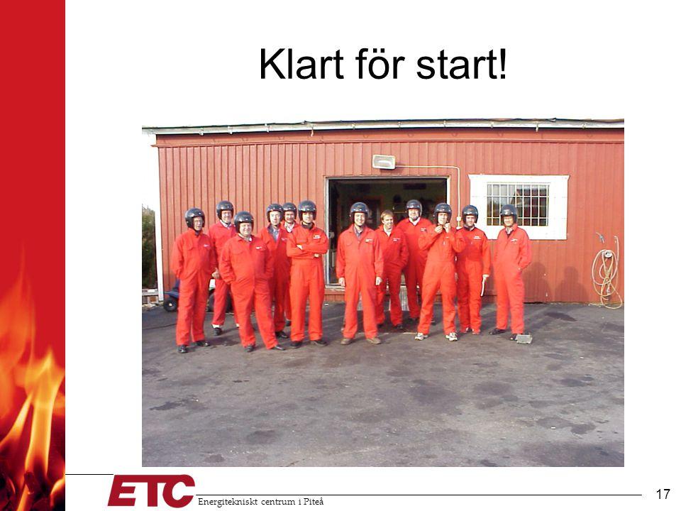 Energitekniskt centrum i Piteå 17 Klart för start!