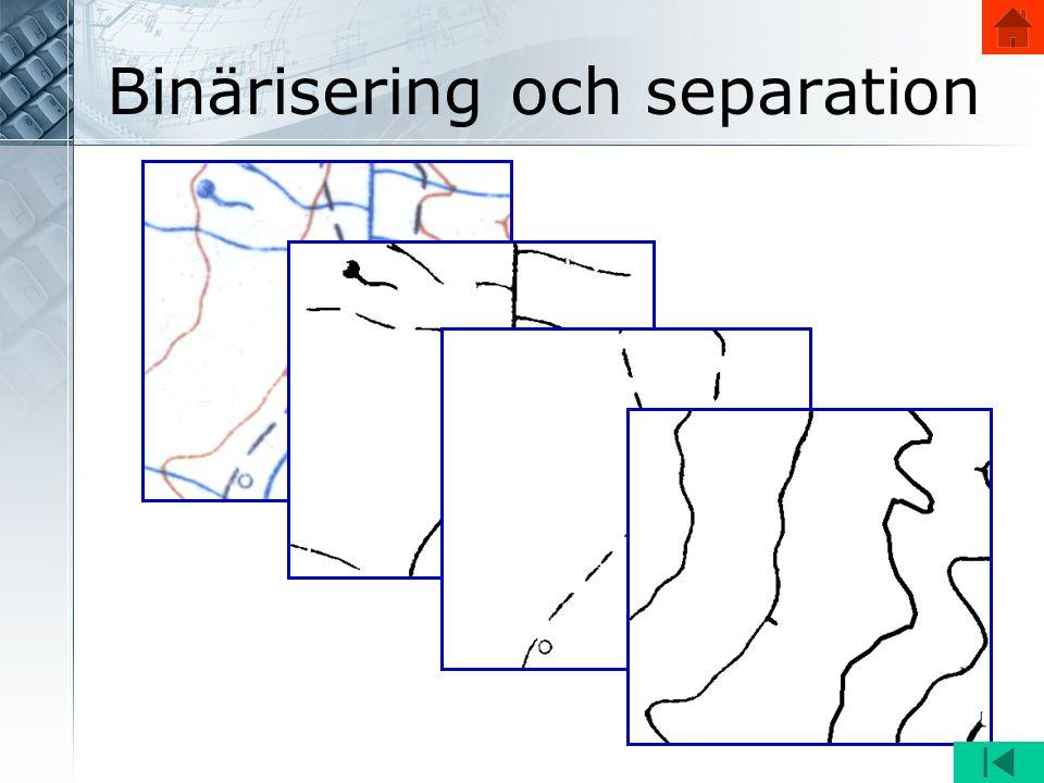 Binärisering och separation