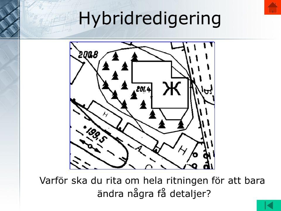 Hybridredigering Varför ska du rita om hela ritningen för att bara ändra några få detaljer