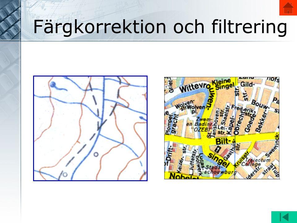 Färgkorrektion och filtrering