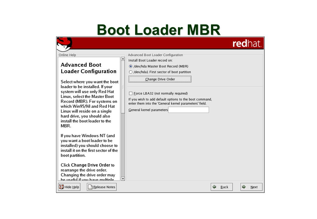 Boot Loader MBR