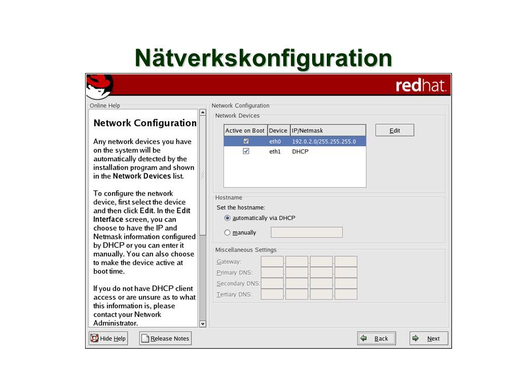 Nätverkskonfiguration