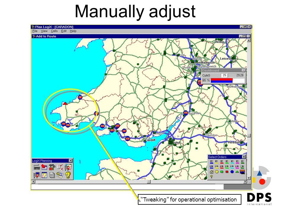 "Manually adjust ""Tweaking"" for operational optimisation"