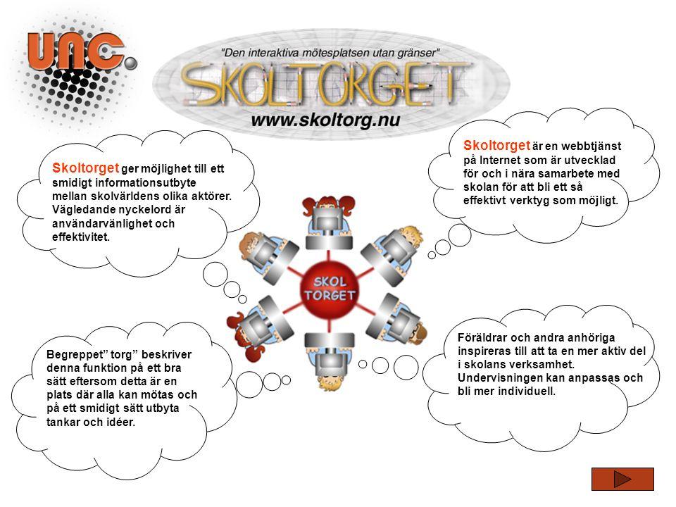 Skoltorget är en webbtjänst på Internet som är utvecklad för och i nära samarbete med skolan för att bli ett så effektivt verktyg som möjligt.