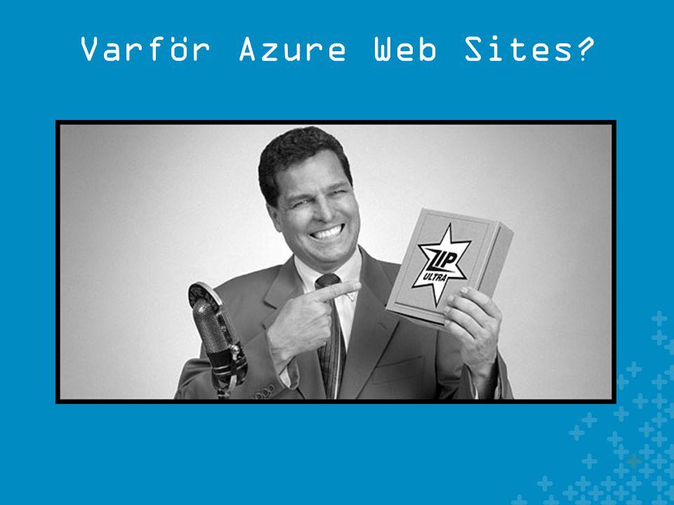 Varför Azure Web Sites