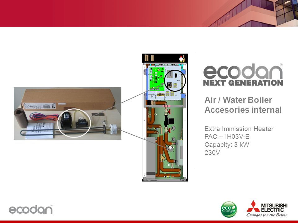 Air / Water Boiler Accesories internal Extra Immission Heater PAC – IH03V-E Capacity: 3 kW 230V
