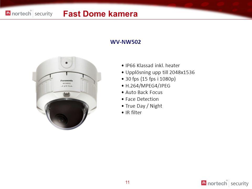 11 WV-NW502 • IP66 Klassad inkl.