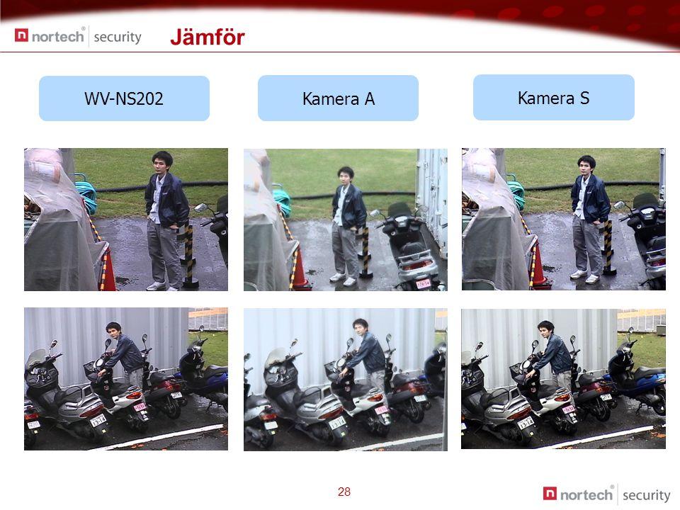 Kamera A Kamera S WV-NS202 Jämför 28