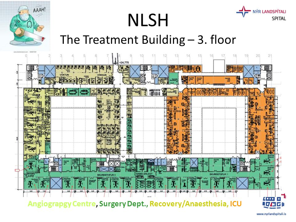 NLSH The Treatment Building – 3. floor Angiograpgy Centre, Surgery Dept., Recovery/Anaesthesia, ICU