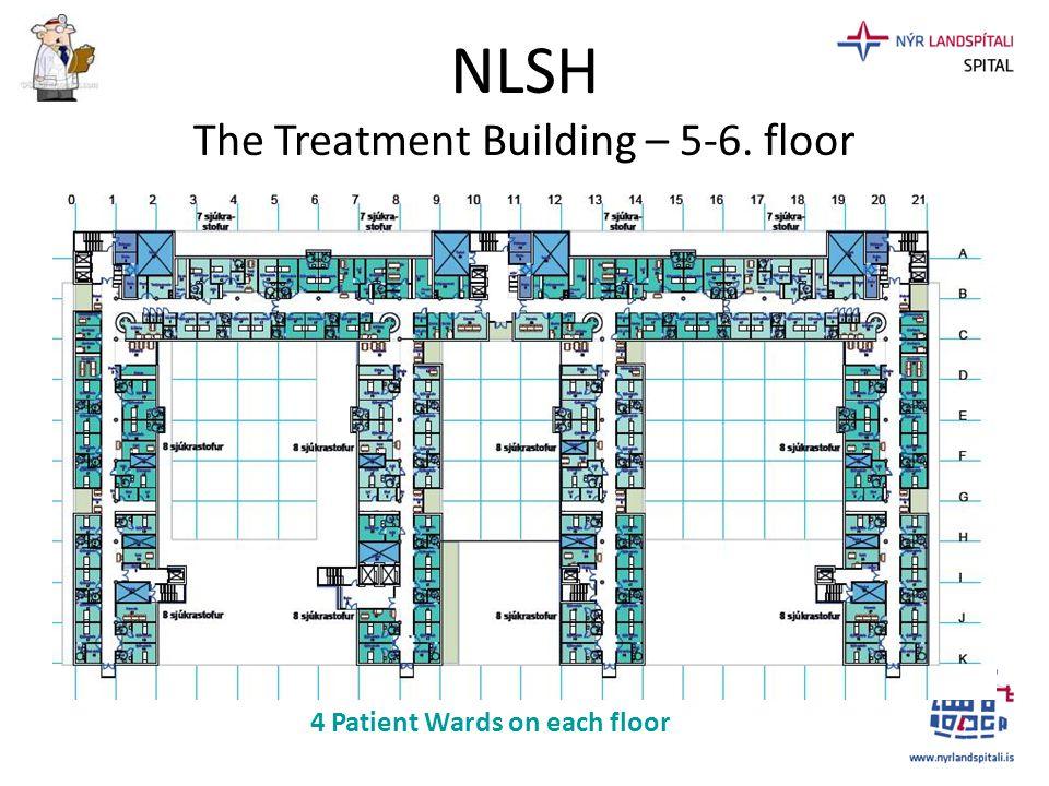 NLSH The Treatment Building – 5-6. floor 4 Patient Wards on each floor
