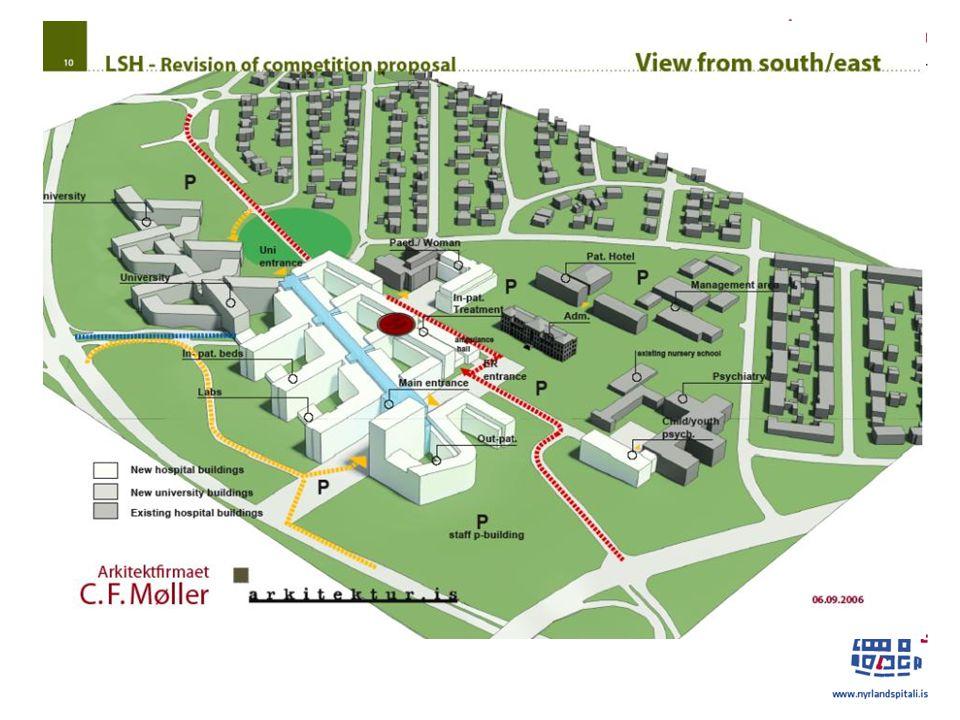 Landspitali Project – Lokal plan: Reykjavik kommun – formal start in April och slutbehandling förväntad I Desember 2012, 8 veckor efter deadline angående comments och anmärkningar – Althingis slutbehandling av årets budget för året 2013 väntas i December.