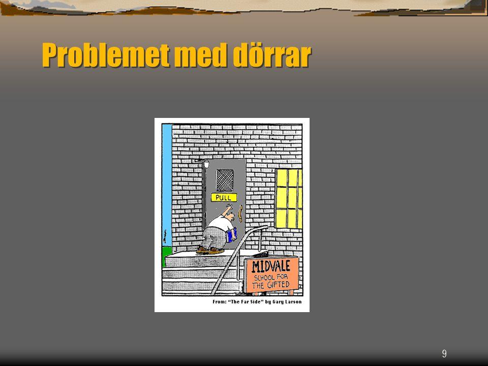 9 Problemet med dörrar