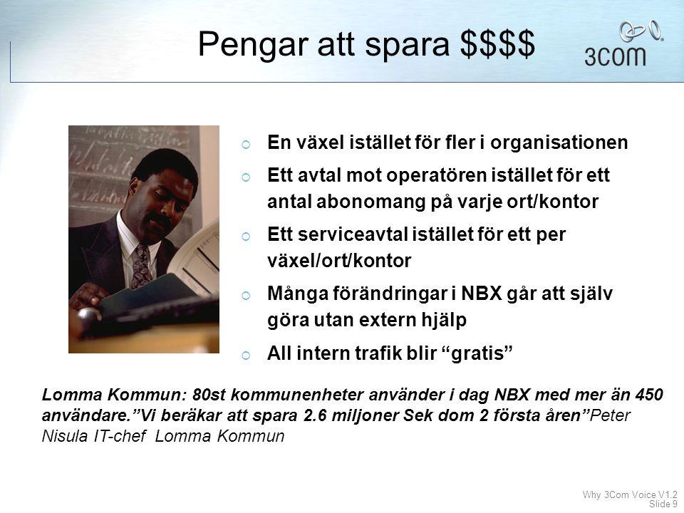 Why 3Com Voice V1.2 Slide 29 For more information, please visit www.3com.com