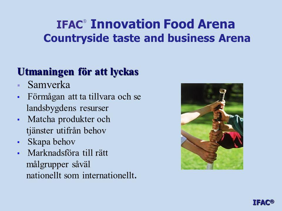 Utmaningen för att lyckas   Samverka   Förmågan att ta tillvara och se landsbygdens resurser   Matcha produkter och tjänster utifrån behov   Skapa behov   Marknadsföra till rätt målgrupper såväl nationellt som internationellt.