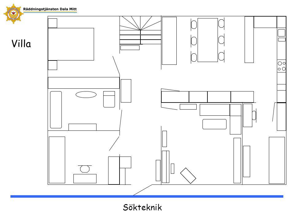 Sökteknik Samla om möjligt information om hur det ser ut i byggnaden.