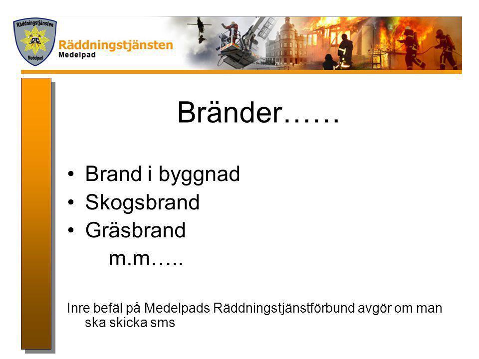 Info … Medelpads Räddningstjänstförbund Thomas Åslin 070-1910499 060-135827 thomas.aslin@sundsvall.se