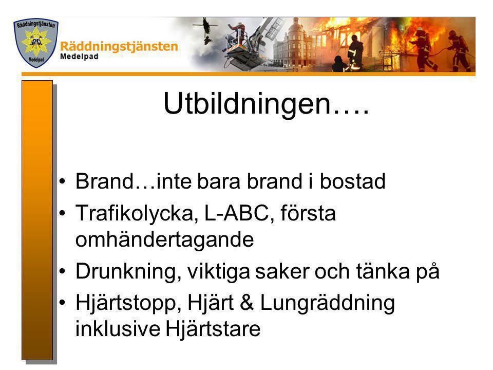 Bränder…… •Brand i byggnad •Skogsbrand •Gräsbrand m.m…..