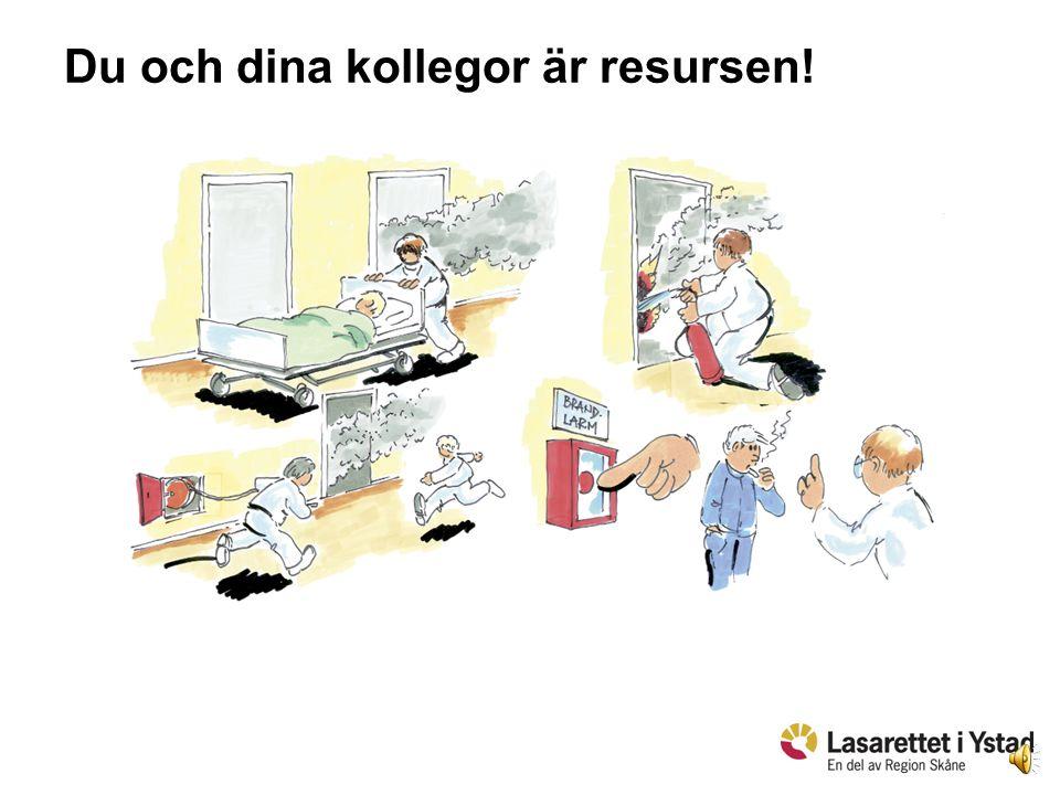4 Högt säkerhetstänkande = • Du räddar liv genom att känna till nödvändiga rutiner. • Var riskmedveten. • Rapportera/åtgärda fel. • Se till att det fi