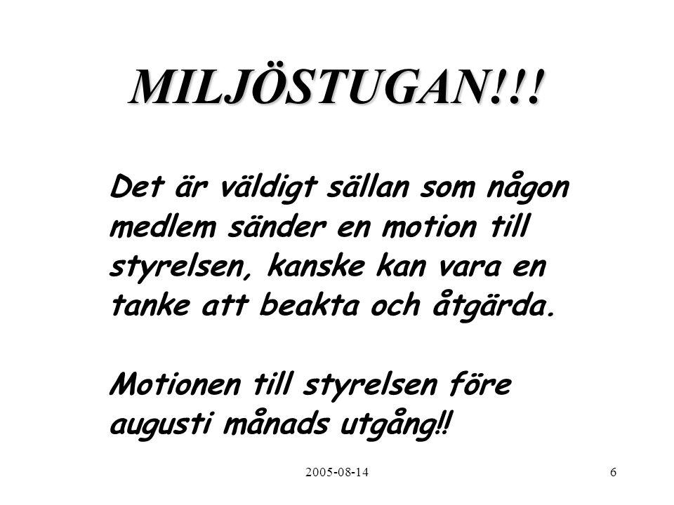 2005-08-146 MILJÖSTUGAN!!.