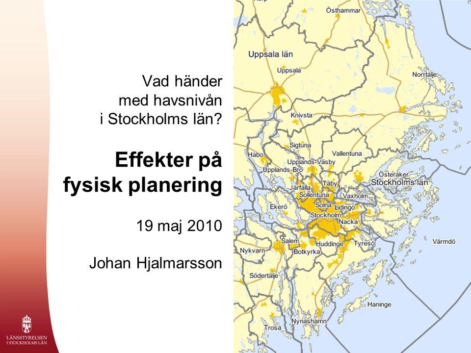 Vad händer med havsnivån i Stockholms län.