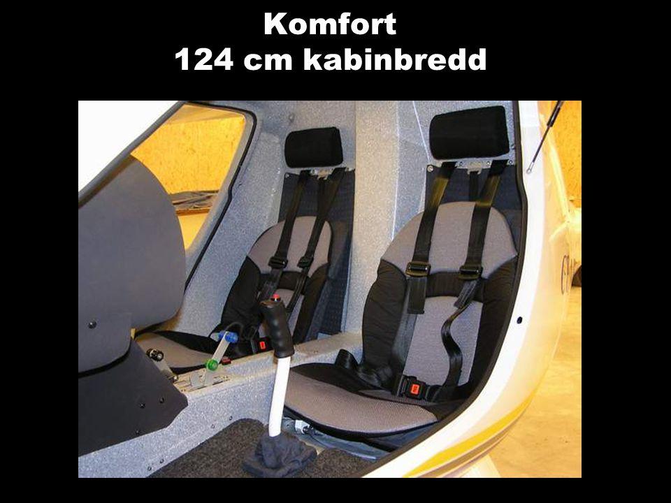 Komfort 124 cm kabinbredd