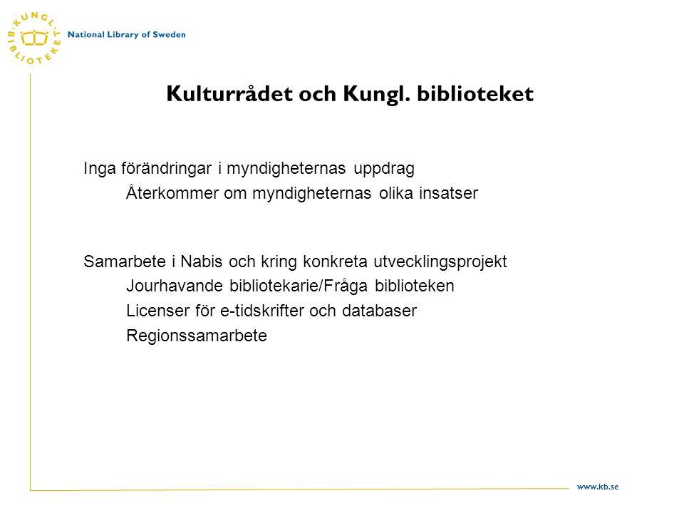 www.kb.se Kulturrådet och Kungl.
