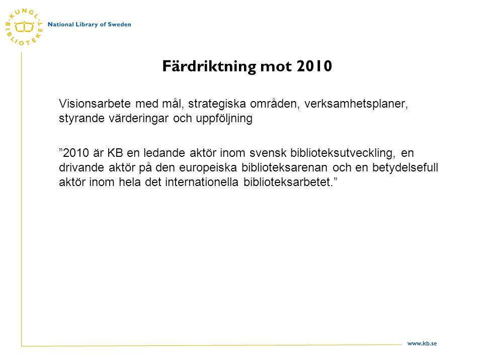 www.kb.se Organisationsutveckling forts.