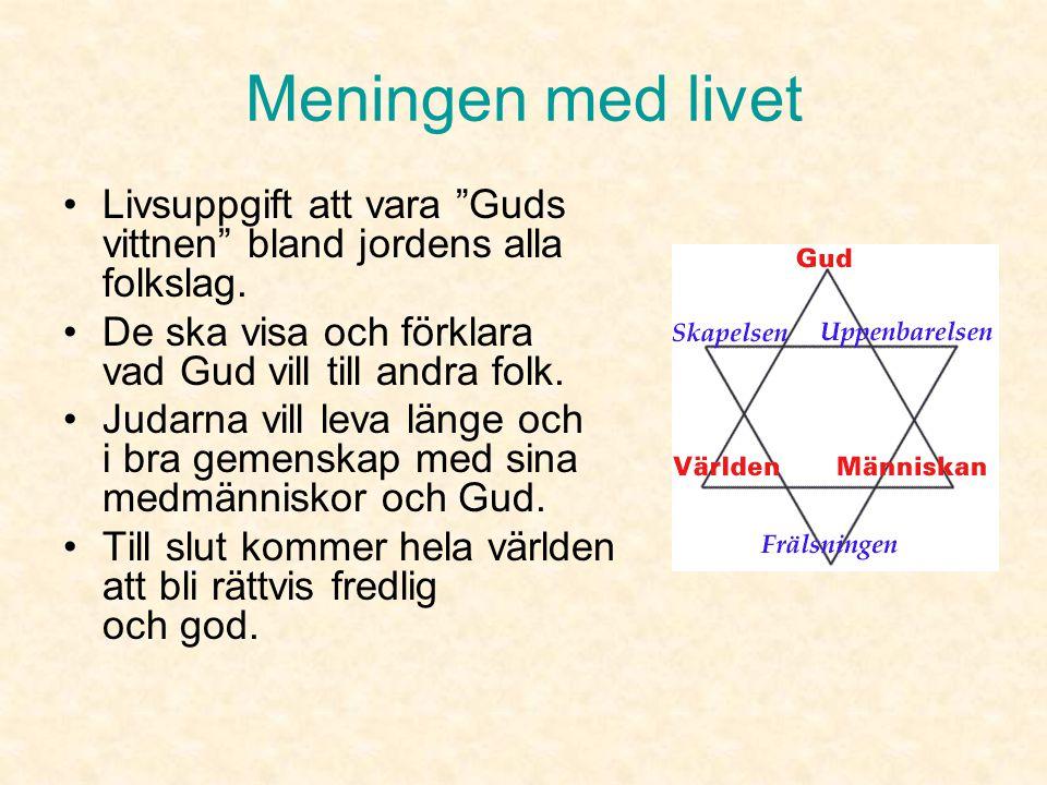 Guds utvalda folk •I Moseböckerna står det att Gud har valt judarna till sitt egendomsfolk.