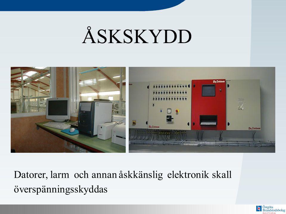 N Datorer, larm och annan åskkänslig elektronik skall överspänningsskyddas ÅSKSKYDD