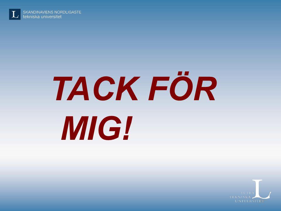 TACK FÖR MIG! 30