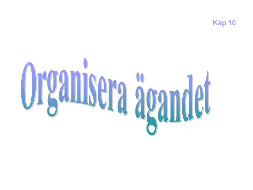 Modeller för att organisera ägda fastigheter Aktörer/organisatoriska enheter Central ledning (politiker/verkställande ledn.