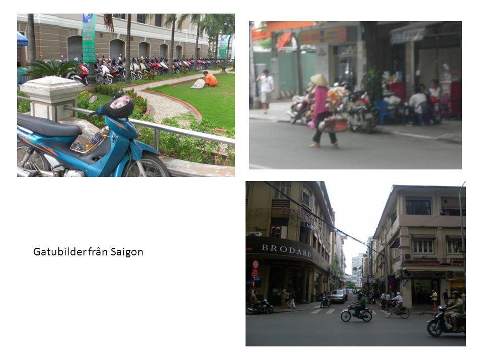 Mopedstatusen var likadan som i Saigon och parkeringsplatserna många.