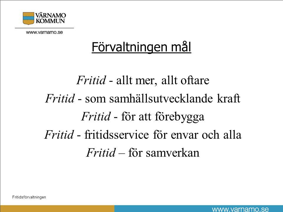 Fritidsförvaltningen Motiv till förslaget •Föreningsengagemang •Samhällsutveckling •Ekonomi •Framtid